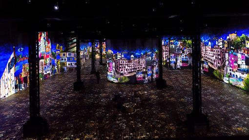 ラトリエ・デ・リュミエール館内、展示風景 ©Culturespaces / E. Spiller