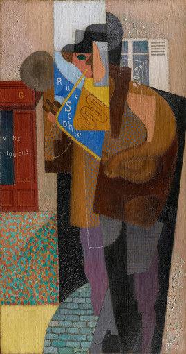 ジーノ・セヴェリーニ『トロンボーン奏者(路上演奏者)』1916年頃   油彩・カンヴァス 71.4×38.1cm 石橋財団ブリヂストン美術館蔵