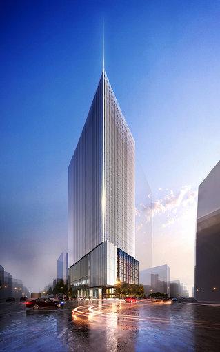 2019年7月竣工予定「ミュージアムタワー京橋」外観イメージ ©NIKKEN