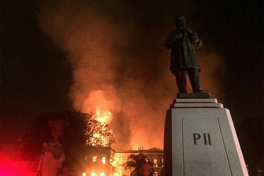 ブラジル国立博物館の火災で収蔵品焼失 Wikipediaが「記憶」共有呼びかけ