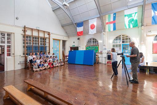 スティーヴ・マックィーンの出身校リトル・イーリング・プライマリー・スクールの3年生。2018年撮影 ©Tate