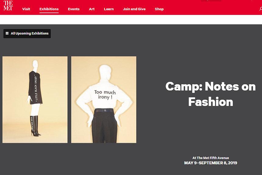 2019年『METガラ』のテーマは「キャンプ」 ソンタグが提唱した美学