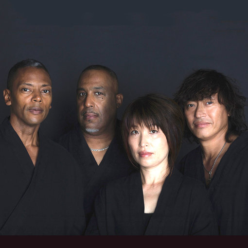 "SPIRAL DELUXE(左から:ジェフ・ミルズ、ジェラルド・ミッチェル、大野由美子、日野""JINO""賢二)"
