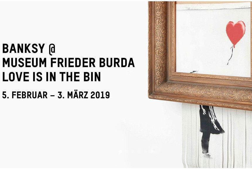 バンクシーのシュレッダー自壊作品『愛はごみ箱の中に』が独で美術館初展示
