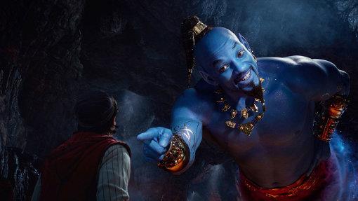 ウィル・スミス扮するランプの魔人ジーニー ©2019 Disney Enterprises, Inc. All Rights Reserved.