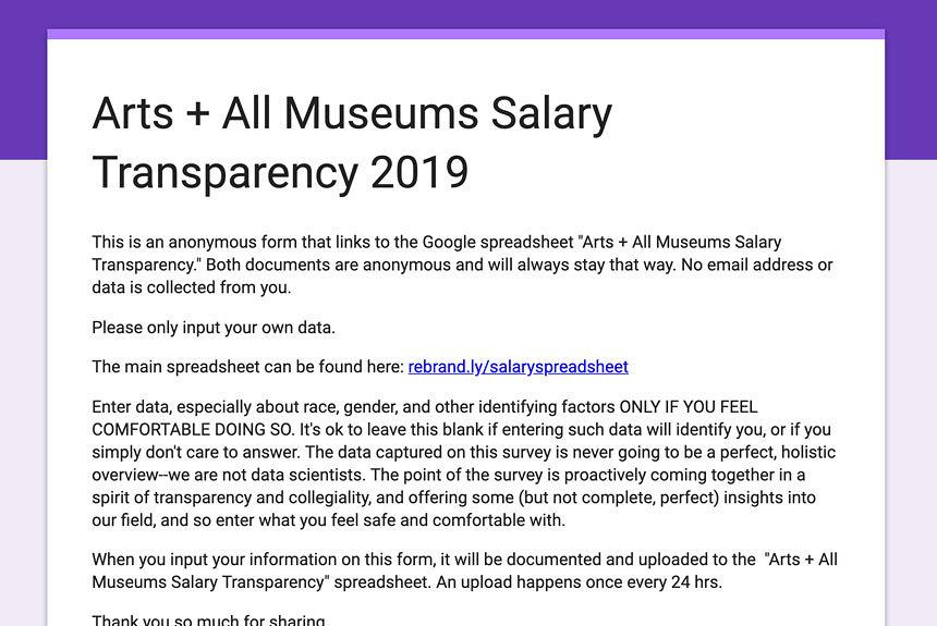 米の美術館職員らが給料を開示、公開スプレッドシートに記入呼びかけ