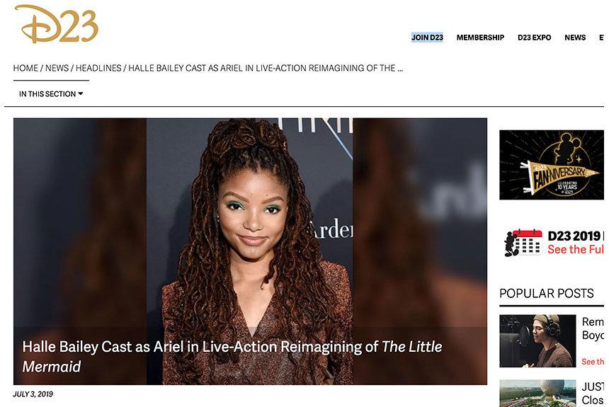 『リトル・マーメイド』主演に黒人俳優起用で賛否。背景や意義を考察する