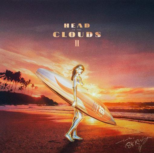 88rising『Head in the Clouds II』ジャケット。アートワークは空山基が手掛けた。空山の代表的なモチーフ「セクシーロボット」が登場している