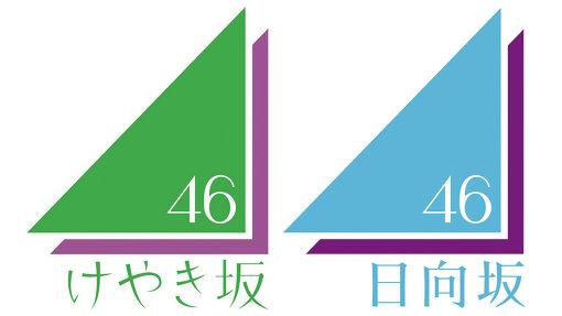 けやき坂46のロゴと日向坂46のロゴ