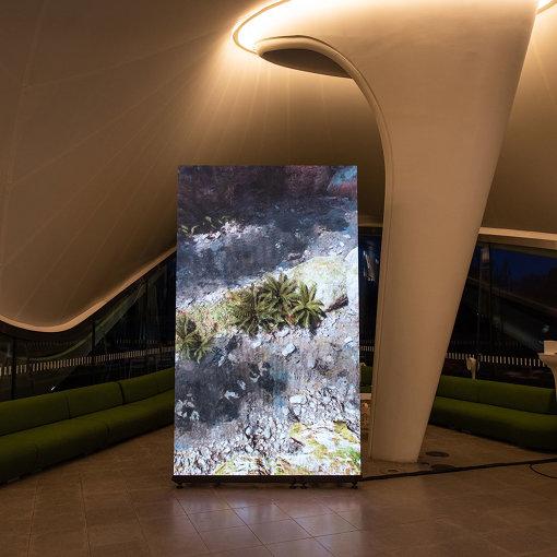 Jakob Kudsk Steensen, Catharsis, 2019-20 (Installation view, 14 January 2020 Serpentine Galleries) © 2019 Photo: Hugo Glenndinning