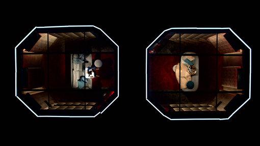 『ラブ・イズ・ブラインド』のポッド。参加者はそれぞれこの個室内に入り、壁越しに会話を楽しむ