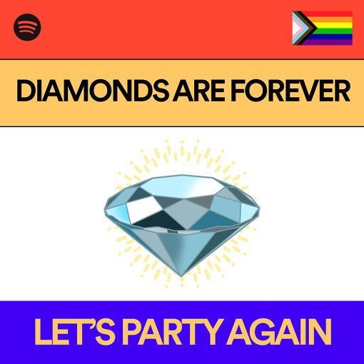『DIAMONDS ARE FOREVER』による「Let's Party Again」プレイリストカバービジュアル