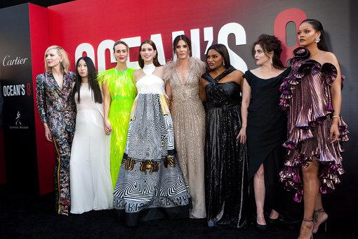 2018年8月にニューヨークで行われた『オーシャンズ8』ワールドプレミアより。オーシャンズの面々を演じた8人