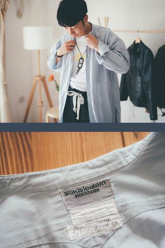 ドレスシャツのタグに書かれているのは、「ストックホルム市立劇場」(ゆーみんさん私物)