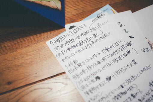 購入当時は日本語の情報がなく、ルールを自身で読み解きながらプレイしていたという。画像は、いけださんお手製の説明書だが、現在は日本語説明書つきのものも販売されている。