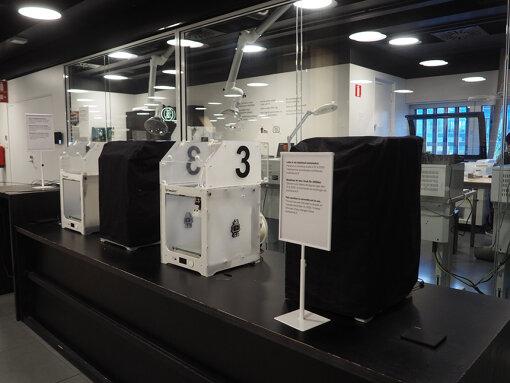 Oodi館内の3Dプリンター(筆者撮影)