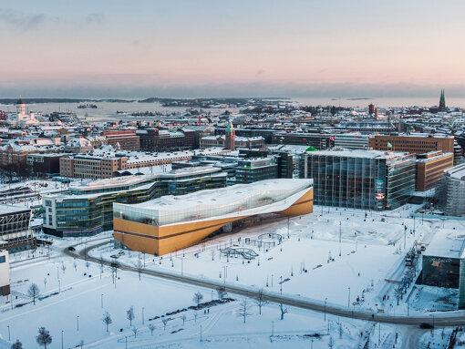 ヘルシンキ中央図書館「Oodi」外観 Photo: Kuvio