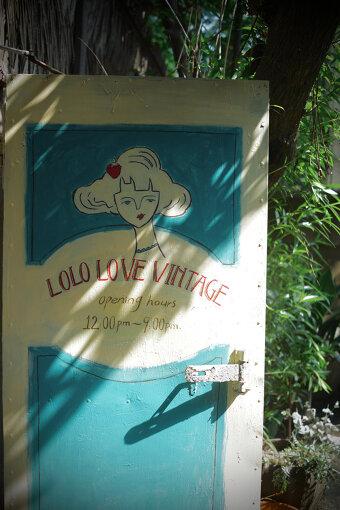 「LOLO LOVE VINTAGE」はこのドアが目印(写真提供:Lolo)