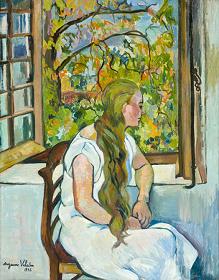 スュザンヌ・ヴァラドン《窓辺のジェルメーヌ・ユッテル》1926年、個人蔵、レバノン