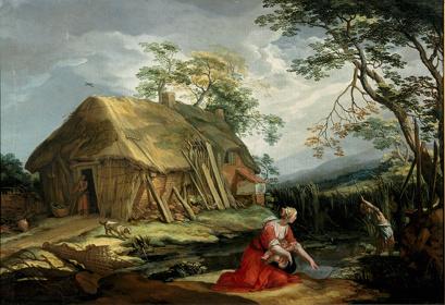 アブラハム・ブルーマールト《ラトナとリュキア人の農民》  1646年 油彩・カンヴァス、69.8×100.4 cm 2573 ユトレヒト中央美術館 Image & copyright Collection Centraal Museum, Utrecht