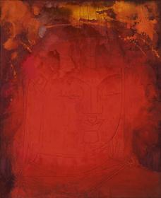 《顔》1960(昭和35)年、紙本着色・額、東京藝術大学美術館蔵