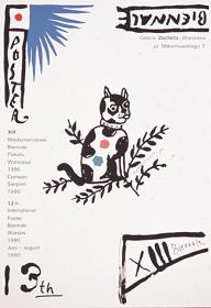 ヘンリク・トマシェフスキー《第13回ワルシャワポスタービエンナーレ》1990年 富山県立近代美術館蔵