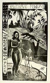 ポール・ゴーギャン『かぐわしき大地(ナヴェ・ナヴェ・フェヌア)』1893-94年(刷り1921年)、木版・紙、埼玉県立近代美術館蔵