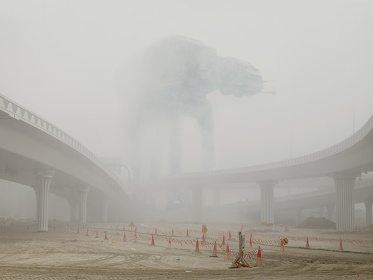 Dark Lens, AT-AT in Fog, Dubai, 2009 © Cédric Delsaux