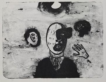 デヴィッド・リンチ『頭の修理』2010年 courtesy of the artist/courtesy Item éditions, Paris