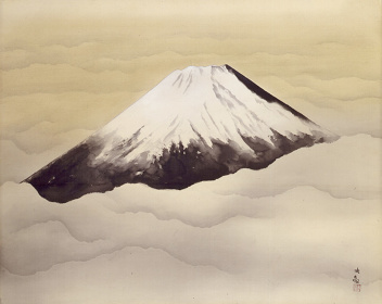 横山大観『心神』1952(昭和27)年 絹本・墨画淡彩 山種美術館