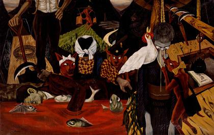 山下菊二『あけぼの村物語』1953 年 東京国立近代美術館蔵