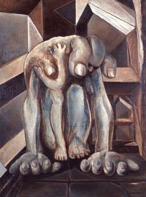 鶴岡政男『重い手』1949 年 東京都現代美術館蔵 ©Hiroko Yoshida