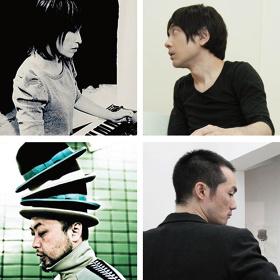 左上から:大野由美子、小山田圭吾、ASA-CHANG、エドツワキ