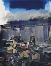 Adrian Ghenie『The Blue Rain』2009, 240.0 x 190.0cm, oil on canvas