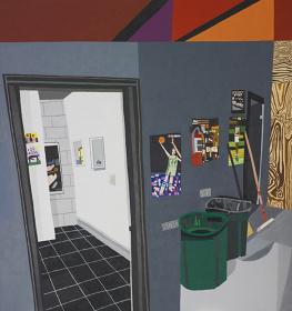 Jonas Wood『Studio Hallway』2010, 243.8 x 228.6cm, oil and  acrylic on canvas