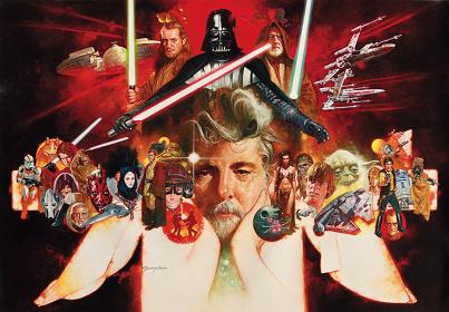マニュエル・サンジュリアン『ジョージ・ルーカスの世界』 ©&™ Lucasfilm Ltd.