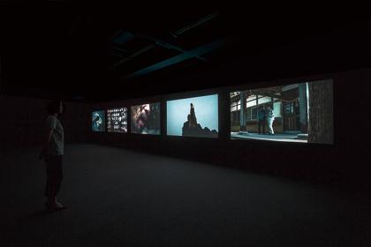 『Visible Breath』2012 アーツ千代田3331での展示風景