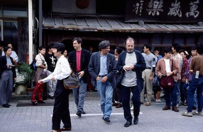 『ヤン・フート IN 鶴来 PART II』ヤン・フートとアーティストによるウォーキングトーク、1994年、鶴来商工会提供