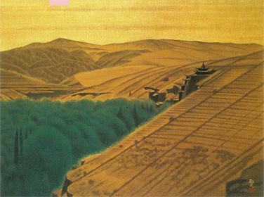 『敦煌A』 1980年 平山郁夫 平山郁夫美術館蔵