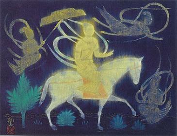 『太子出城』 1969年 平山郁夫 平山郁夫シルクロード美術館蔵