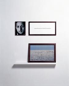 『盲目の人々― no.1』1986年、カラー写真、テキスト、額 豊田市美術館 ©Sophie Calle / Adagp, Paris, 2016 Courtesy Galerie Perrotin and Gallery Koyanagi