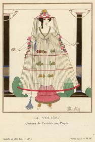 シャルル・マルタン『大きな鳥かご パキャンの風変わりな服装』『ガゼット・デュ・ボン・トン』1913年2月神戸ファッション美術館蔵