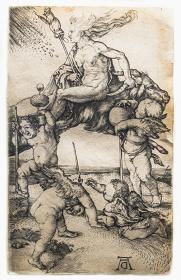 『空を飛ぶ魔女』アルブレヒト・デューラー 1500~1503年 中世犯罪博物 ©Mittelalterliches Kriminalmuseum in Rothenburg ob der Tauber