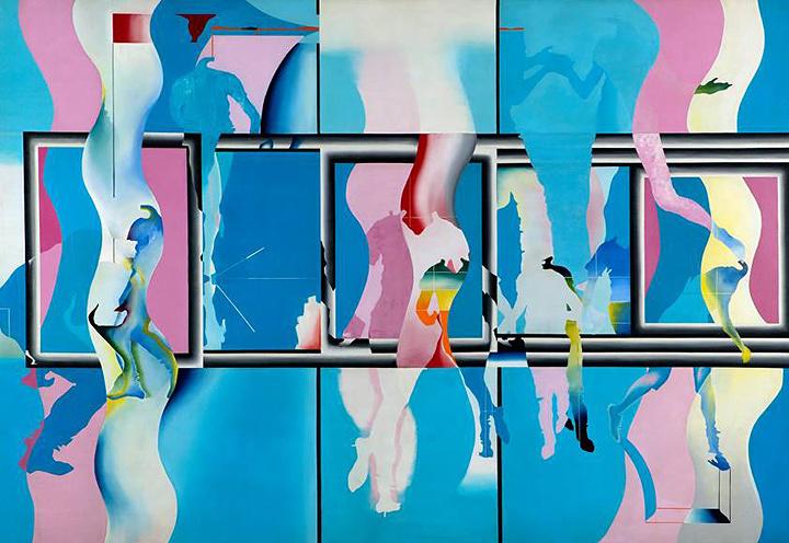宇佐美圭司『水族館の中の水族館 No.2』1967年 油彩、キャンバス 185.0×270.0cm