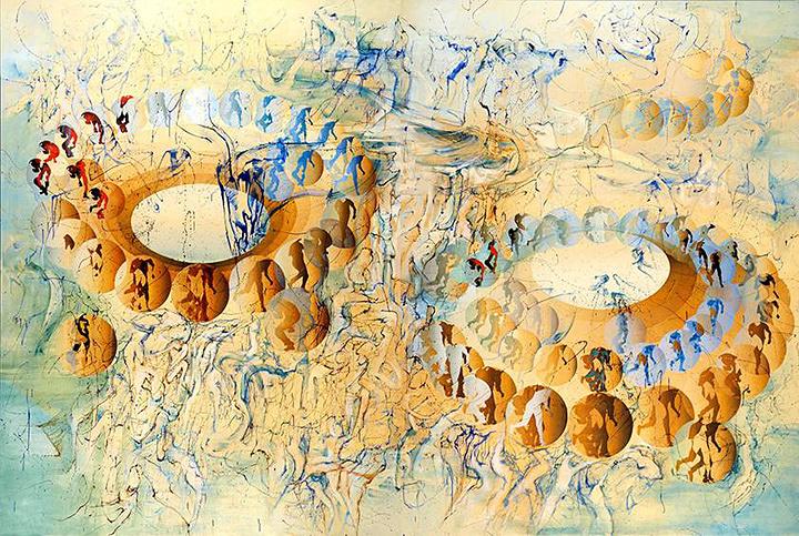 宇佐美圭司『山々は難破した船に似て No.2』2001年 油彩、キャンバス/290.9×436.4cm