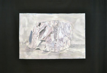 hiding『染色』綿布、染料 135×163cm×2 2014