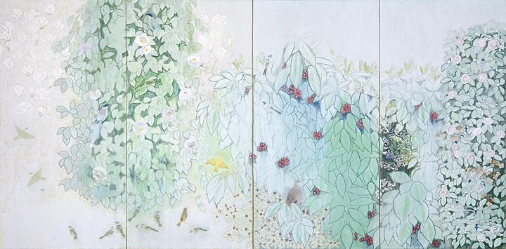 田中青坪『春到』昭和42(1967)年 東京藝術大学所蔵