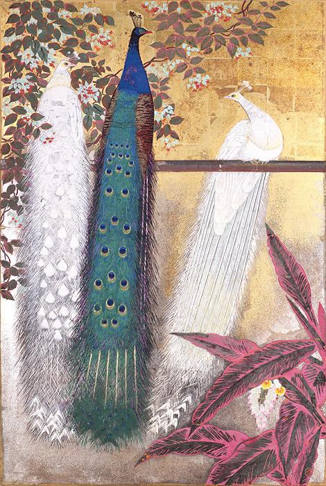 田中青坪『孔雀』昭和7(1932)年 永青文庫所蔵