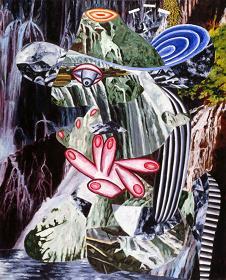 『芸術の浄化』 1990年 キャンヴァスに油彩 徳島県立近代美術館蔵