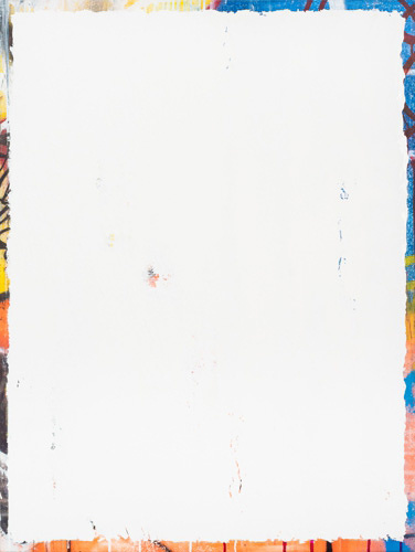 『Boring』 2016, 130 x 97cm, mixed media on canvas